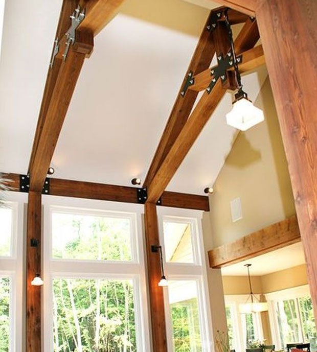 Steel-and-Wood-Combination-Beams-for-the-Living-Room