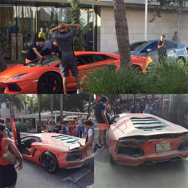 Lamborghini-Aventador-on-Fire