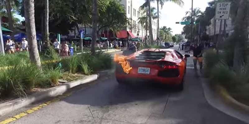 Valet Sets $400,000 Lamborghini Aventador on Fire near Miami Beach