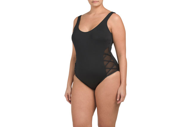 Plus Solid One piece Swimsuit