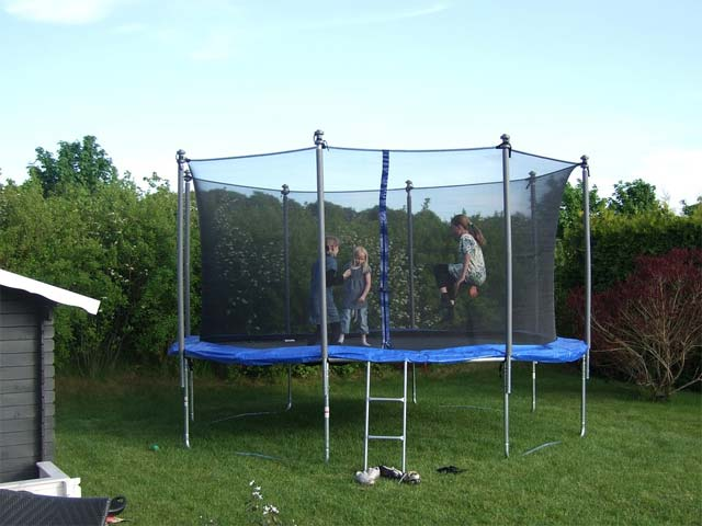 Safe Outdoor Trampoline Play