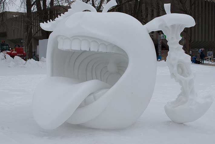 International Snow Sculpture Competition at Breckenridge Colorado