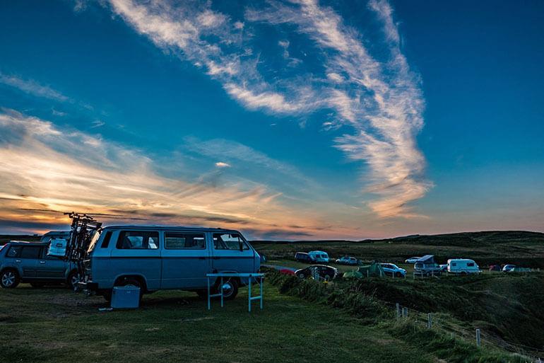 Camping in Car