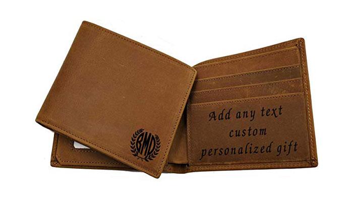 Engraved Card Holder Wallet